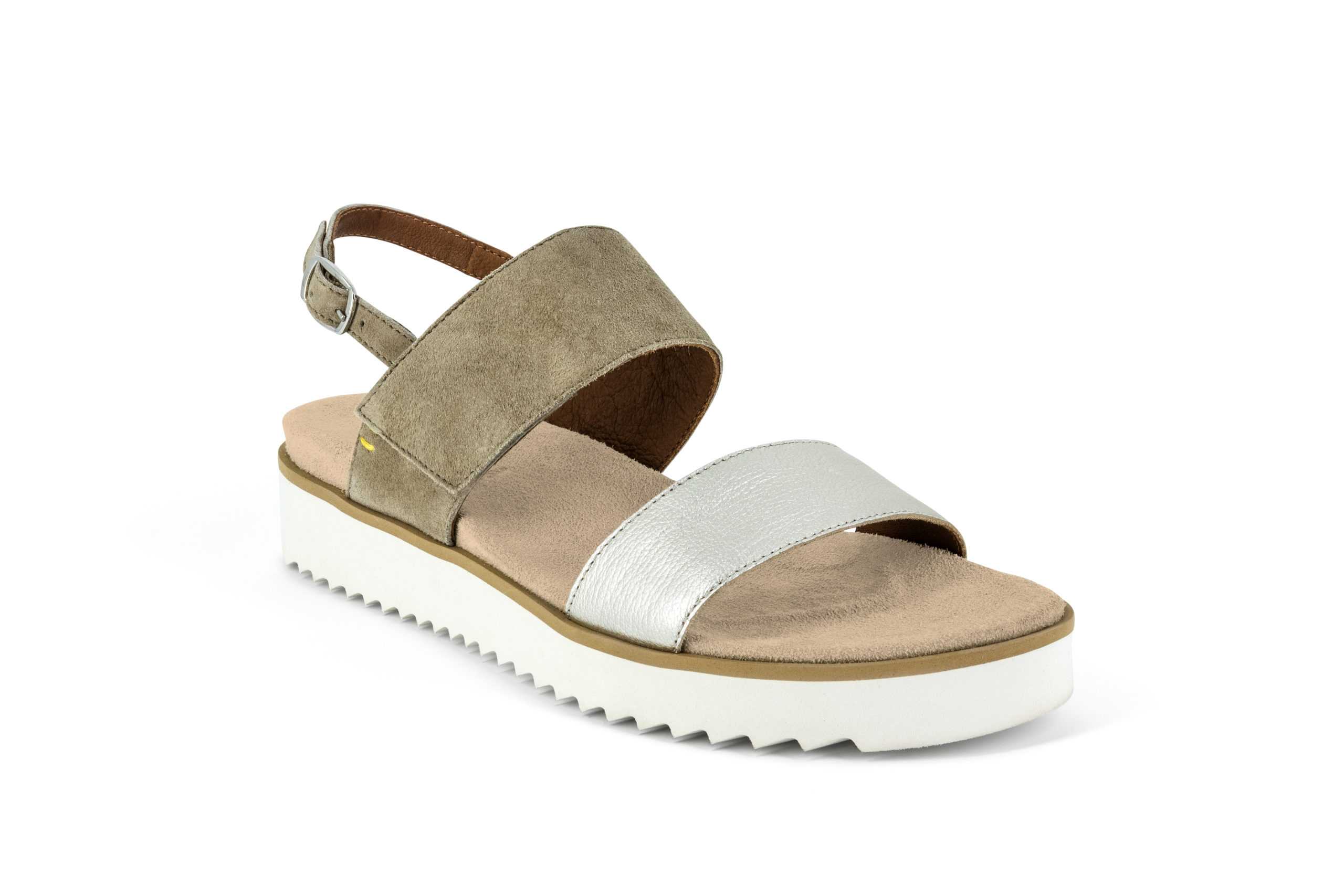 Benvado Lilly Pelle Argento/Taupe